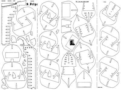 Модели кораблей из дерева  чертеж 160