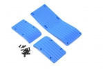3.3 & 16.8 T/E-Maxx Skid Plate Set (3pc.) - Blue