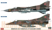MiG-23 and MiG-27 FLOGGER COMBO (Two kits in the box) (HASEGAWA) 1/72