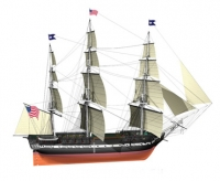 USS Constitution масштаб 1:100