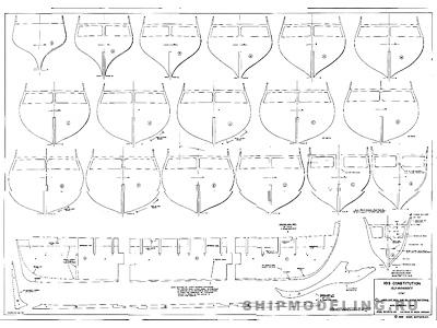 Модель деревянного корабля чертежи