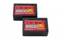 Carbon Pro V-Max LiPo 6600 110C 7.6V 2S Saddle Pack Tubes