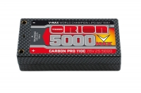 Carbon Pro V-Max LiPo 5000 110C 7.6V 2S Shorty Pack Tubes