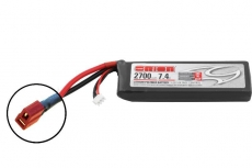 Team Orion Li-Po 7.4V (2S) 2700mah 50C SoftCase Deans plug with LED charge status