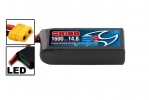 Li-Po 14,8В(4S) 1600mah 75C SoftCase XT60 Racing Drone Battery