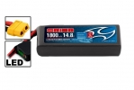 Li-Po 14,8В(4S) 1800mah 75C SoftCase XT60 Racing Drone Battery