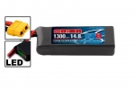 Li-Po 14,8В(4S) 1300mah 75C SoftCase XT60 Racing Drone Battery