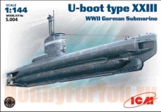 S004 Подводная лодка U-boot XXIII (WW II German Submarine) (ICM) 1/144