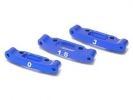 Aluminum Rear Toe Out Mount Set ( 0 / 1.5 / 3 Degree )For Asso RC18