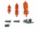 Anodized Orange Alu. Fuel Filter + L & S Cas Cooler (3 pcs set)