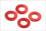 Aluminum Color (3x6x0.5mm/Red/4pcs)
