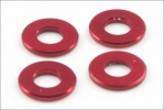 Aluminum Color (3x6.5x0.75mm/Red/4pcs)