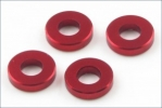 Aluminum Color (3x6.5x1.5mm/Red/4pcs)