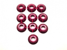 3mm Alu. Cone Linkage Spacer, Red (10)