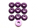 3mm Alu. Cone Linkage Spacer, Purple (10)