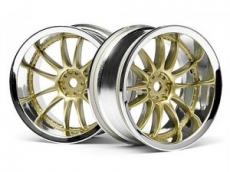 Диски 1/10 - Work XSA 02C Wheel 26mm Chrome/gold (6mm Offset