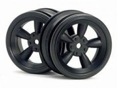 Диски 1/10 - Vintage 5 Spoke Wheel 26MM Black (0MM Offset)