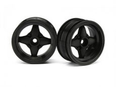 Диски 1/10 мини - MX60 4 Spoke Black (вынос 3mm/ 2шт)
