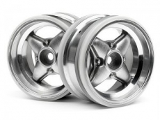 Диски 1/10 мини - MX60 4 Spoke Matte Chrome (вынос 3mm/ 2шт)