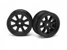Диски 1/10 мини - MX60 8 Spoke Black (вынос 0mm/ 2шт)