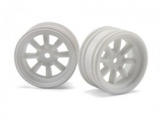 Диски 1/10 мини - MX60 8 Spoke White (вынос 3mm/ 2шт)