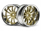 Диски 1/10 Work XSA 02C Wheel 26мм Chrome/gold (9mm Offset)