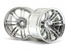 Диски колес 1/10 - LP35  Rays Volk Racing RE30 Chrome (2шт) 9mm OffSet