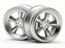 Диски 1/10 - Vintage 5 Spoke 26MM Matte Chrome (0MM Offset) 2шт