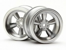 Диски 1/10 - Vintage 5 Spoke 31MM (wide) Matte Chrome (6MM Offset) 2шт