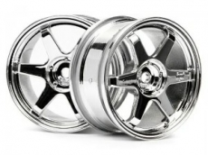 Диски 1/10 - TE37 Wheel 26MM Chrome (0MM Offset)