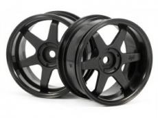 Диски 1/10 - TE37 Wheel 26MM Black (6MM Offset) 2шт