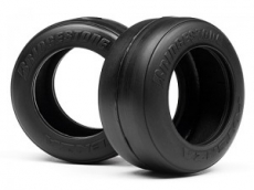 Шины 1/10 - F1 Bridgestone High Grip FT01 Slick Tyre S (front)