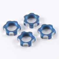 Гайки колес 1/8 - V2 Wheels Nuts 1.25mm Thread - Blue (4шт)