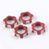 Гайки колес 1/8 - V2 Wheels Nuts 1.00mm Thread - Red (4шт)