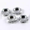 Гайки колес 1/8 - V2 Wheels Nuts 1.00mm Thread - Silver (4шт)