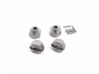 HEX Wheel HUB 12MM (SILVER/4PCS)