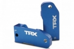 Caster blocks, 30-degree, blue-anodized 6061-T6 aluminum (left & right)/ suspension screw pin (2