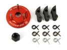Flywheel + Clutch Shoes 3pcs + Springs + Central Lock Nut 8.5mm Incl. Springs -