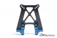 T4 Carbon Front Shock Tower (w/alum. mount) Blue