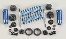Амортизаторы - Factory Team 18T Rear Threaded Kit, with collars, blue aluminum (2шт)