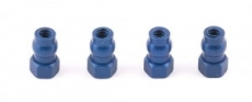 FT Shock Bushings, blue aluminum, short