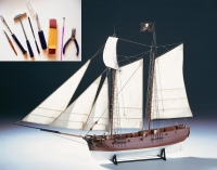 Adventure Pirate Schooner с инструментами 1:60